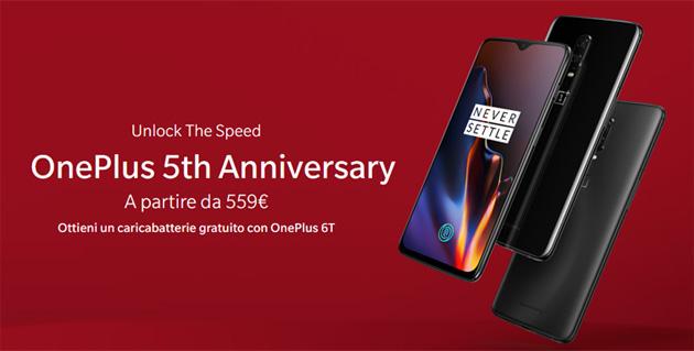 OnePlus festeggia 5 anni con sconti e regali