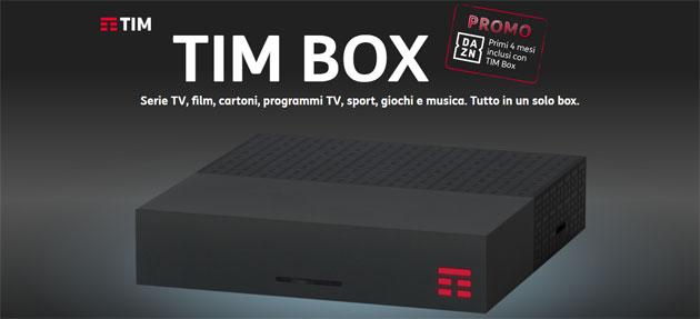 TIM Box con 4 mesi di DAZN inclusi