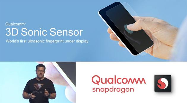 Qualcomm annuncia il 3D Sonic Sensor, lettore di impronte digitali ad ultrasuoni commerciale integrabile sotto il display