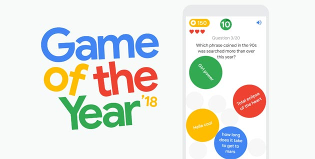 Foto Google Game of the Year 2018, simpatico gioco sulle ricerche di tendenza del 2018
