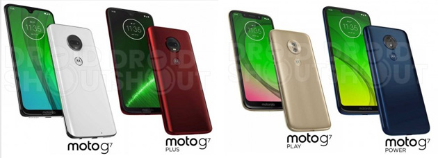 Foto Moto G7, foto e specifiche dei presunti Moto G7, G7 Plus, G7 Play e G7 Power