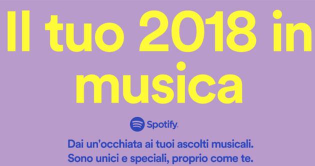 Spotify, come riscoprire il proprio 2018 di musica