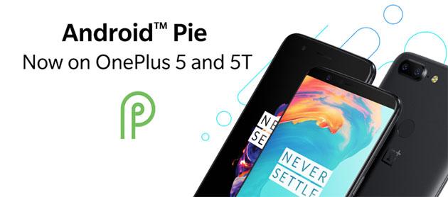 OnePlus 5 e 5T si aggiornano ad Android 9 Pie