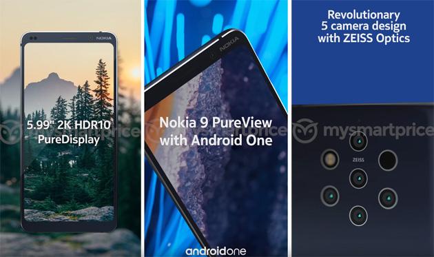Nokia 9, Google conferma alcune specifiche per sbaglio