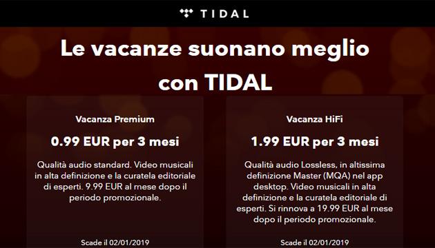 TIDAL fa suonare meglio le vacanze: Premium e HiFi in promo per 3 mesi fino al 2 gennaio 2019 e Playlist Best of 2018 personalizzata
