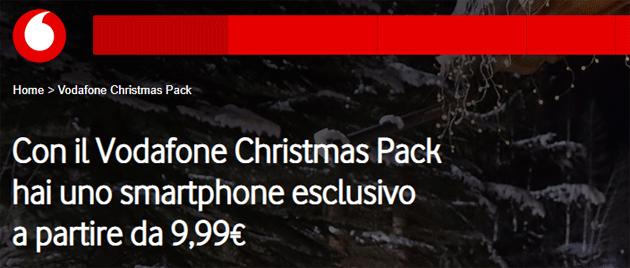 Vodafone Christmas Pack 2018 offre smartphone da 9,99 euro al mese