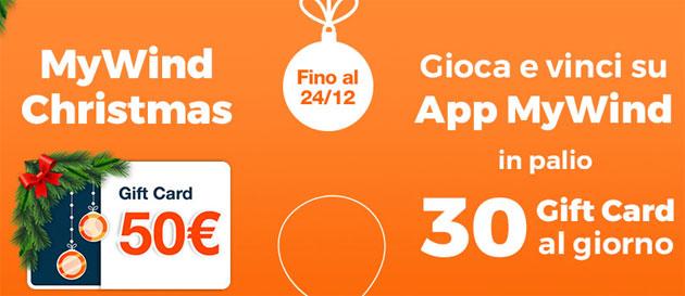 MyWind Christmas regala Gift Card di 50 euro (oggi ultimo giorno per giocare)