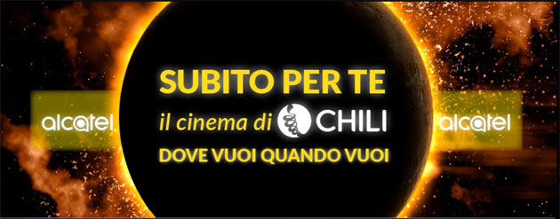 Foto Alcatel regala il cinema di Chili