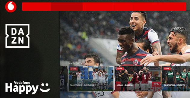 Foto Vodafone Happy Moment: DAZN per 2 mesi in regalo