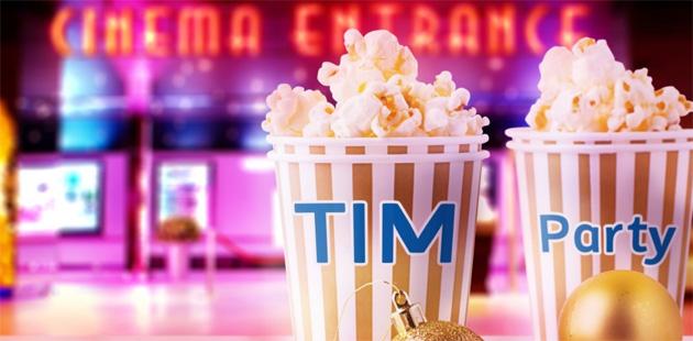 Tim Party porta al Cinema in 2 al prezzo di 1 quattro volte a Dicembre 2018