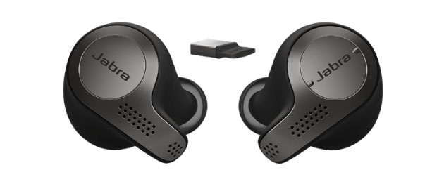 Foto Jabra Evolve 65t, auricolari true-wireless con audio in alta qualita' e certificati Skype for Business