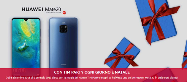 Foto TIM Party, 10 Huawei Mate 20 in palio ogni giorno