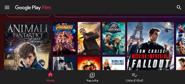 Google Play Film su Android ha una nuova veste grafica