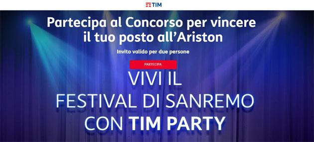 TIM Party regala biglietti per Sanremo 2019: come partecipare al concorso