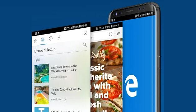 Il browser Microsoft Edge segnala le possibili notizie false su iOS e Android