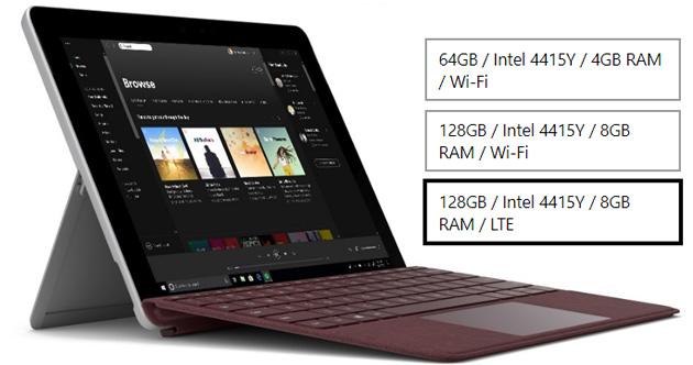 Microsoft Surface Go in Italia anche con 4G LTE