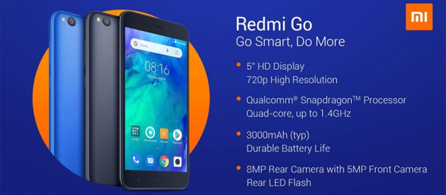 Redmi GO con Android 8 Oreo GO Edition ufficiale