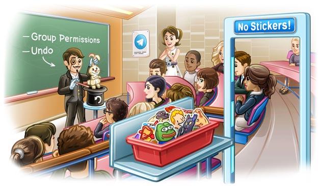 Telegram 5.2 introduce Permessi di gruppo, Annulla Elimina e download veloci