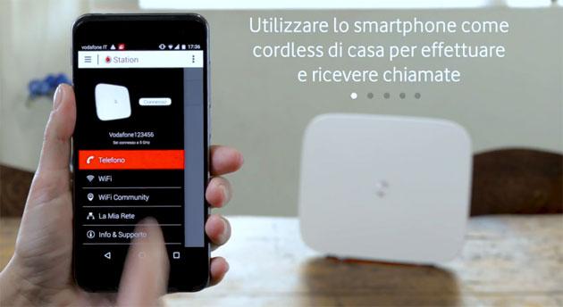 App Vodafone Station trasforma lo smartphone nel cordless di casa