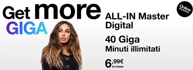 Foto 3 All-In Master Digital: 40 Giga e Minuti illimitati a 6,99 euro al mese