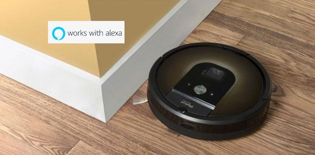 I Robot Roomba si comandano a voce con Amazon Alexa