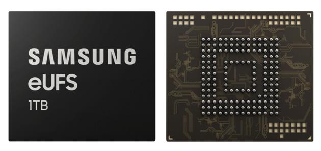 Samsung eUFS 2.1 1TB per smartphone con memoria integrata come quella dei PC premium, addio microSD