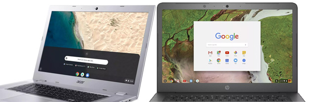 Acer Chromebook 315 e HP Chromebook 14 primi laptop Chrome OS alimentati da AMD