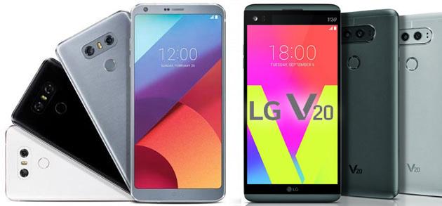 LG G5 e LG V20, termina il supporto del produttore