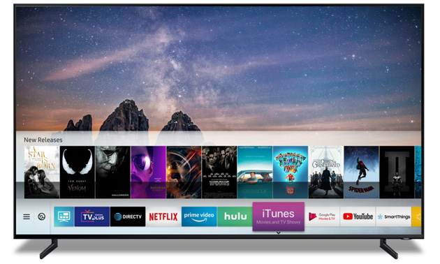 Apple iTunes Film su Samsung Smart TV 2018 e 2019