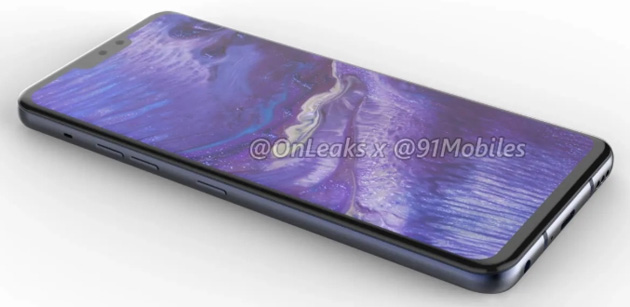 Foto LG G8, primi render mostrano ampio display con notch e dual camera