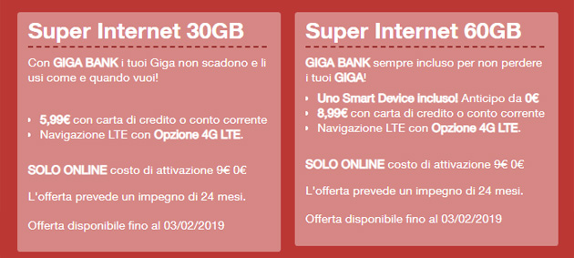 Foto 3 Super Internet con Smart Device Xiaomi incluso fino al 3 febbraio. Huawei Watch 2 entrato in catalogo