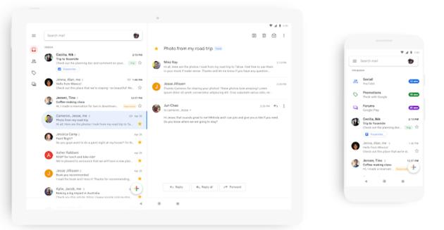 Gmail su Android e iOS rinnovato con Google Material Theme e nuove funzioni