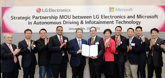 LG e Microsoft stringono partnership al CES 2019