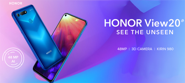Honor View20 con fotocamere da 48MP e 3D: Foto, Video, Specifiche e Prezzo in Italia