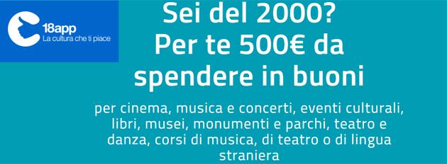 Bonus Cultura 18app: 500 euro da spendere in cultura. Come Ottenere Bonus e Spenderli