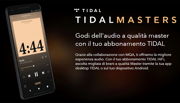Foto TIDAL espande supporto per audio Hi-Res MQA su Android