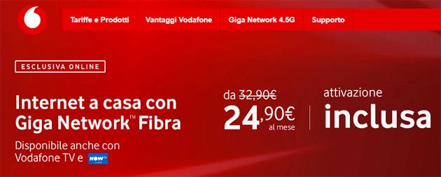 Vodafone Fibra Internet Unlimited+ senza costo attivazione, modem opzionale e massima velocita' inclusa