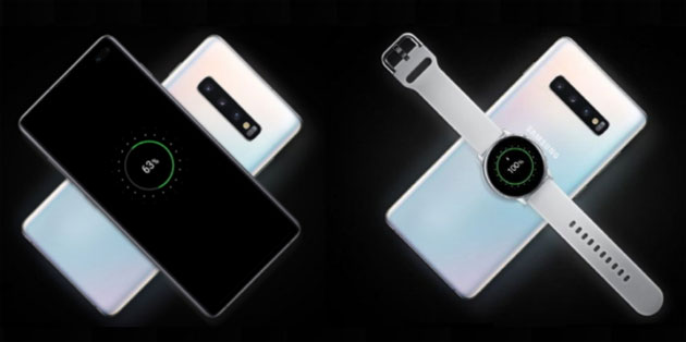 Foto Samsung Galaxy S10: ricarica wireless altri dispositivi, WiFi 6, Smart WiFi e 4G LTE Cat20
