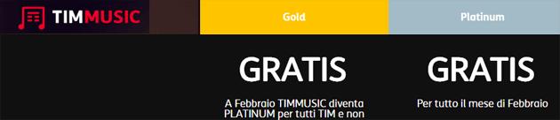 TIMmusic Platinum Gratis per Tutti a Febbraio 2019, ecco come