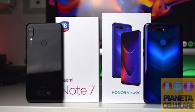 Foto Redmi Note 7 by Xiaomi vs Honor View 20, due 48 mpx a confronto