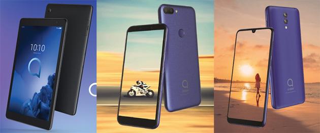 Alcatel: smartphone 3, 3L, 1S e tablet 3T 10 annunciati al MWC 2019