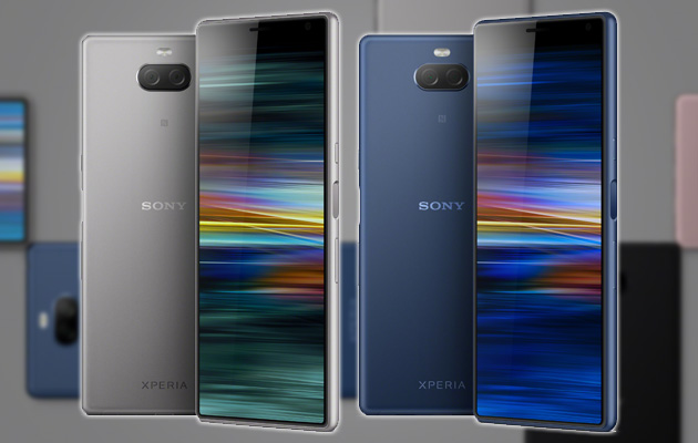 Foto Sony Xperia 10 e Xperia 10 Plus, smartphone di fascia media con display 21:9 e dual camera