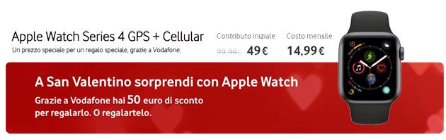 Vodafone per San Valentino sconta Apple Watch 4 Cellular di 50 euro