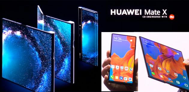 Huawei Mate X, primo smartphone pieghevole 5G
