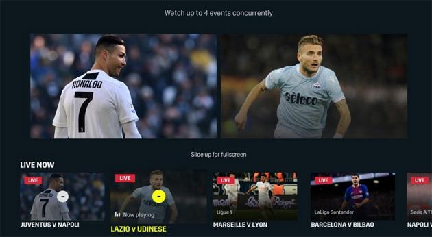 DAZN su Apple TV attiva MultiView per seguire fino a quattro eventi contemporaneamente