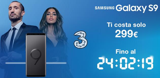 3 Italia, Samsung Galaxy S9 senza anticipo a 299 euro: analisi offerta