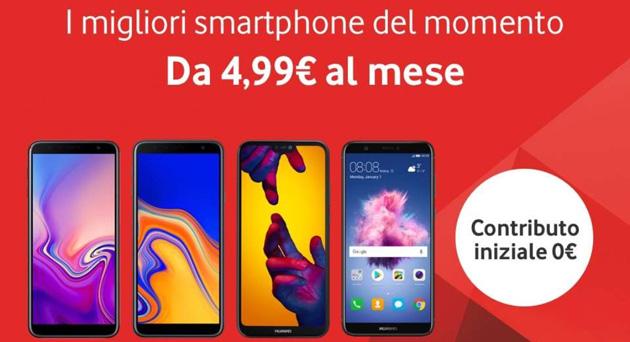 Vodafone offre smartphone da 4,99 euro al mese per 30 mesi senza anticipo fino al 25 febbraio a selezionati clienti