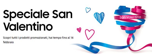 Samsung per San Valentino 2019 sconta smartphone, wearable e tablet fino al 20 per cento