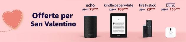 Amazon per San Valentino 2019 sconta Echo e prodotti intelligenti per la casa