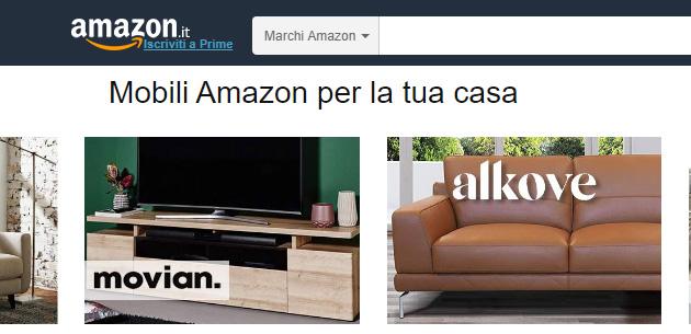 Amazon lancia Movian e Alkove, brand di arredamento